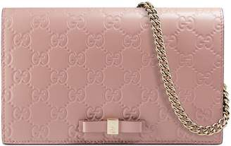 Gucci Signature mini bag $895 thestylecure.com