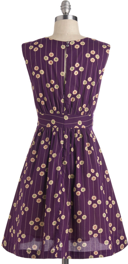 Emily And Fin Too Much Fun Dress in Plum Petunias
