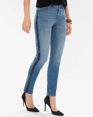 So Slimming Velvet Side-Seam Girlfriend Ankle Jeans