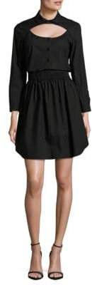 Carven Solid Cotton Shirtdress