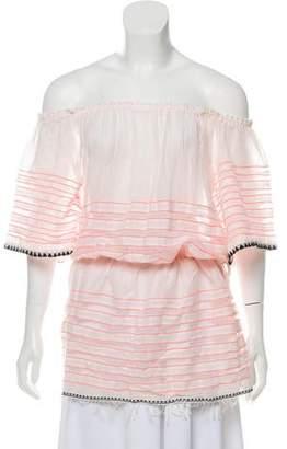 Lemlem Off-The-Shoulder Striped Tunic