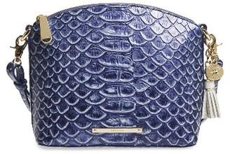 Brahmin Mini Duxbury Leather Crossbody Bag - Blue $215 thestylecure.com