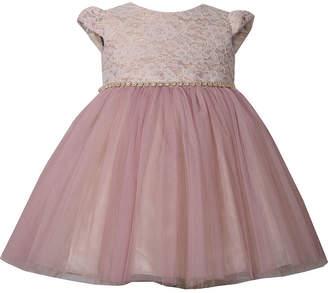Bonnie Jean Lace Blush Dress - Baby Girls