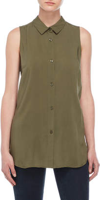 BCBGeneration Lace-Up Back Sleeveless Shirt