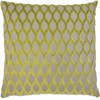 Square Feathers Lattice Accent Pillow