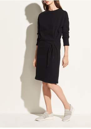 Vince Long Sleeve Cinched Waist Dress