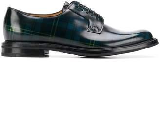 Church's tartan oxford shoes