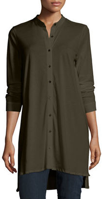 Eileen Fisher Easy Jersey Button-Front Tunic, Petite $158 thestylecure.com