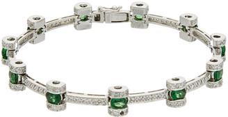 Diana M Fine Jewelry 18K 4.23 Ct. Tw. Diamond & Tsavorite Bracelet