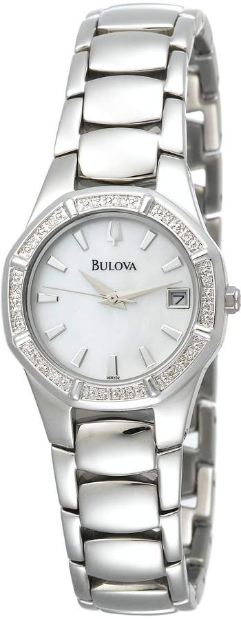 Bulova Women's 96R102 Silver Stainless-Steel Quartz Watch with Dial