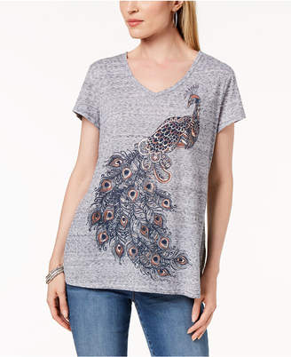 Style&Co. Style & Co Puff-Printed Graphic T-Shirt, Created for Macy's