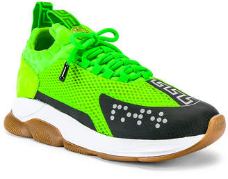 Versace Sport Sneakers in Lime & Black | FWRD