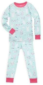 Hatley Little Girl's& Girl's Two-Piece Arctic Party Cotton Pajama Set