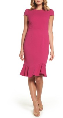 Women's Betsey Johnson Stretch Crepe Trumpet Dress $128 thestylecure.com