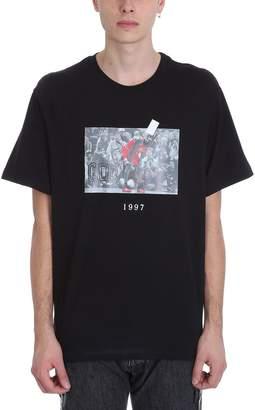 Throw Back Jordan Black Cotton T-shirt