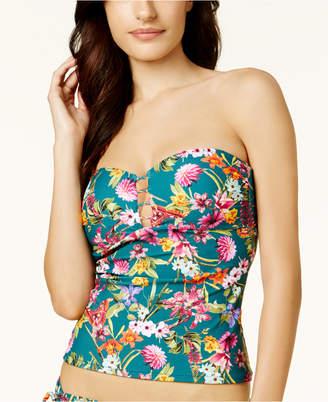 Jessica Simpson Eden Strappy Bandeau Tankini Top Women's Swimsuit