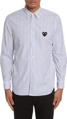 Comme des Garcons Black Heart Stripe Oxford Shirt