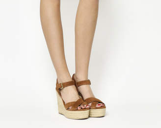 Office Ahoy Cross Strap Espadrille Wedges