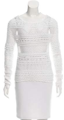 Torn By Ronny Kobo Open Knit Long Sleeve Top w/ Tags