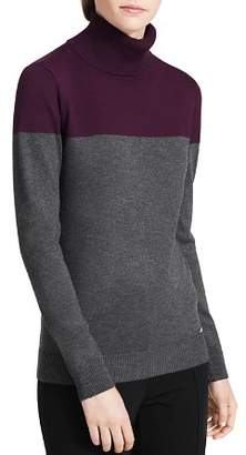 Calvin Klein Color-Blocked Turtleneck Sweater