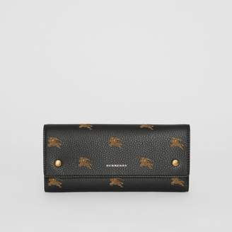 Burberry EKD Leather Continental Wallet
