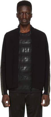 Fendi Black and Gold Forever Zip Up Sweater