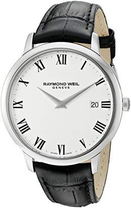 Raymond Weil Men's 'Toccata' Swiss Quartz Stainless Steel and Leather Watch