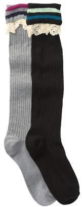 Steve Madden Stripes Ribbed Socks