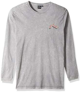 Rusty Men's Original Logo Traditional Fit Long Sleeve T-Shirt