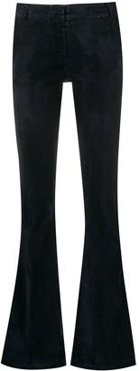 Kiltie bootcut trousers