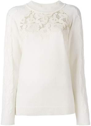 Blumarine lace panel pullover