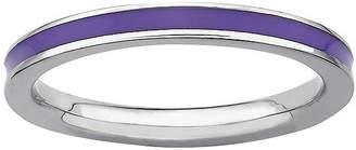 JCPenney FINE JEWELRY Sterling Silver Enamel Stackable Ring