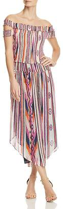 Ramy Brook Mandee Off-the-Shoulder Silk Dress