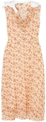 Miu Miu Printed Cotton-organza Midi Shirt Dress