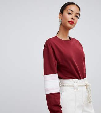 Asos Tall DESIGN Tall sweatshirt in color block