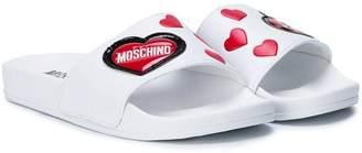Moschino Kids heart sliders