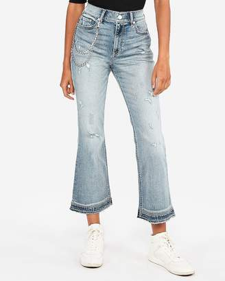 Express High Waisted Original Vintage Cropped Flare Jeans