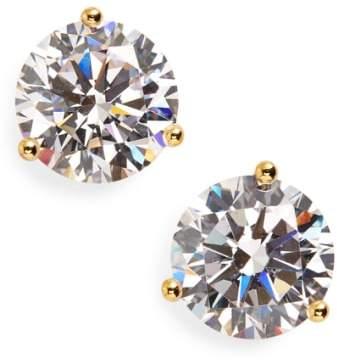 Women's Nordstrom Precious Metal Plated 4Ct Tw Cubic Zirconia Earrings