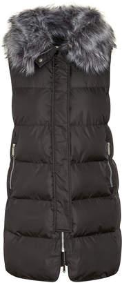 Sam Edelman Puffer Vest with Faux Fur Collar