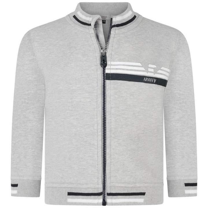 Armani JuniorBaby Boys Grey Zip Up Cardigan