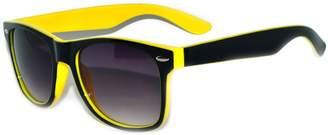 OWL Classic Retro Vintage Two -Tone (Black-) Sunglasses Smoke Lens