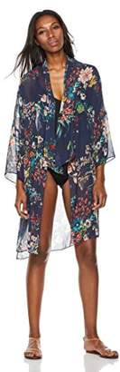 Beautiful Nomad Women's Cardigan Kimono Cover up with Floral Print