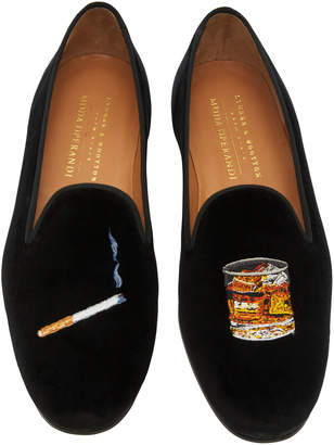 Stubbs & Wootton Exclusive Cigarette and Scotch Velvet Slippers