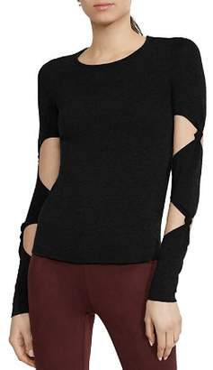 Bailey 44 Infiltration Knot Cutout-Sleeve Sweater
