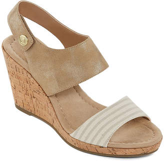 e6142f9f43d JOHN S BAY Womens Sjb Quarry Wedge Sandals