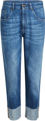 Brunello Cucinelli Cropped Jeans with Cuffed Ankles