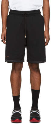 Marcelo Burlon County of Milan Black and Gold Muhammad Ali Edition Series Shorts