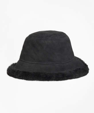 Brooks Brothers Shearling Bucket Hat