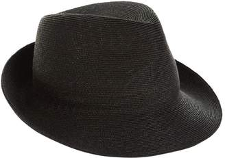 Philip Treacy Logo Embroidered Trilby Hat