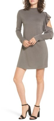 Women's Everly Side Ruffle Knit Dress $49 thestylecure.com